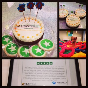 Trustpilot Sweetens their Customer Milestone Award with 1-800-Bakery Logo Cakes & Cookies
