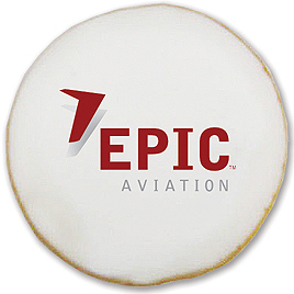 Logo Cookies are a hit with Epic Aviation