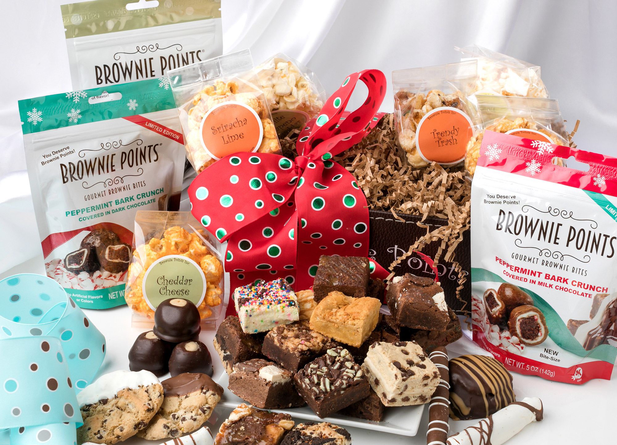 Holiday Gourmet Brownie GIft Boxes and Baskets