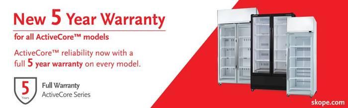 SKOPE SKT1500-A SKT ACTIVECORE Top Mount Three Door Display Fridges Warranty