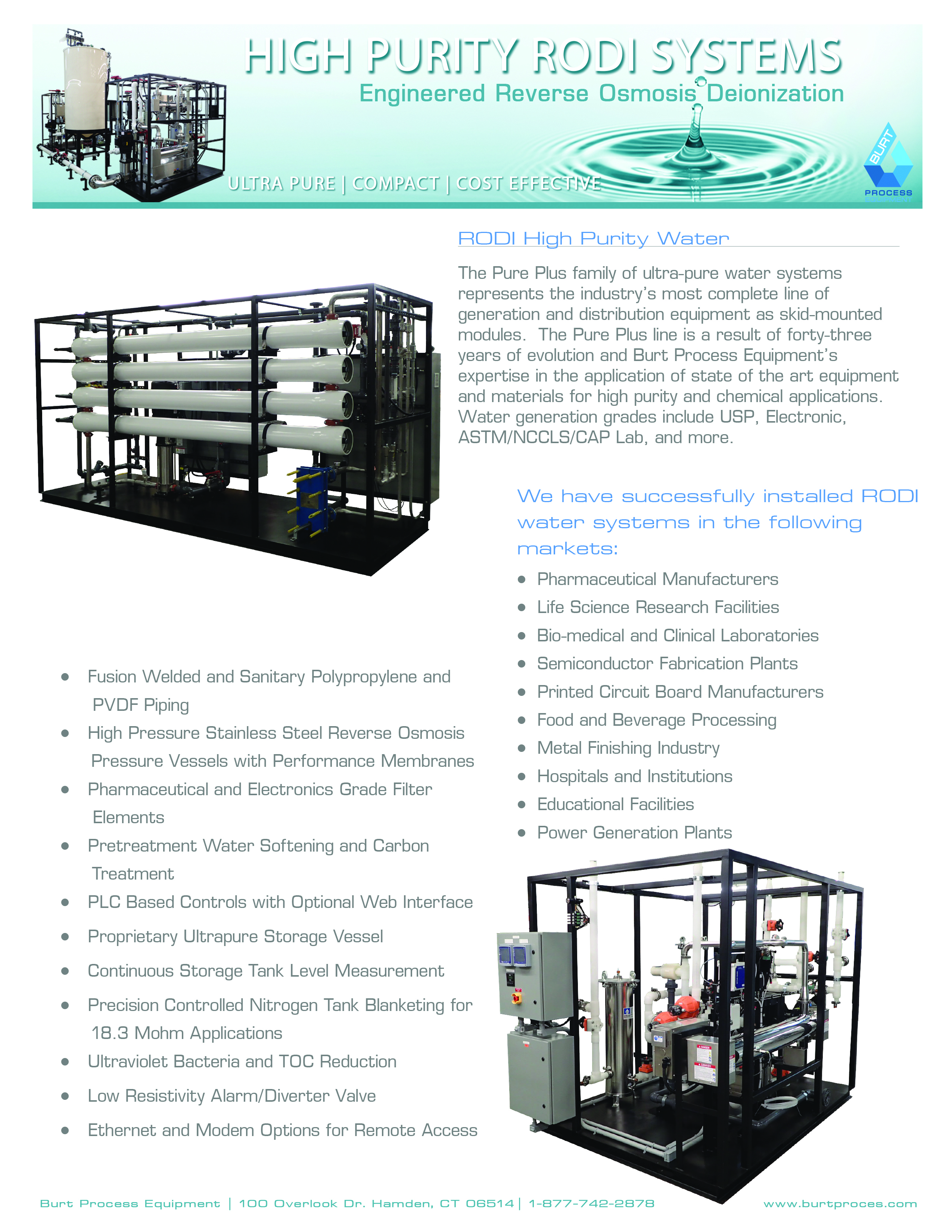 High Purity System RODI Systems Brochure