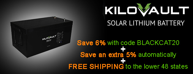 11% off and free shipping on KiloVault HLX deep cycle lithium batteries