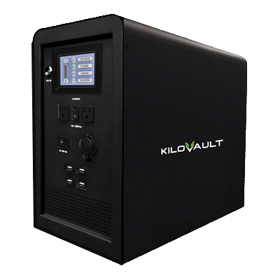 An emergency battery backup power unit from KiloVault