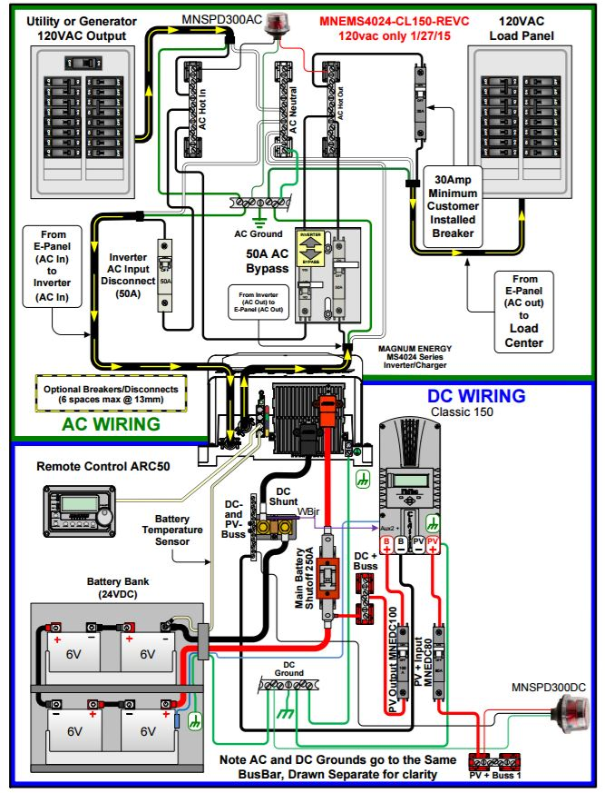 MNEMS4024CLA150 wiring diagram