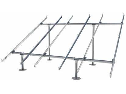 IronRidge solar panel ground mounting system