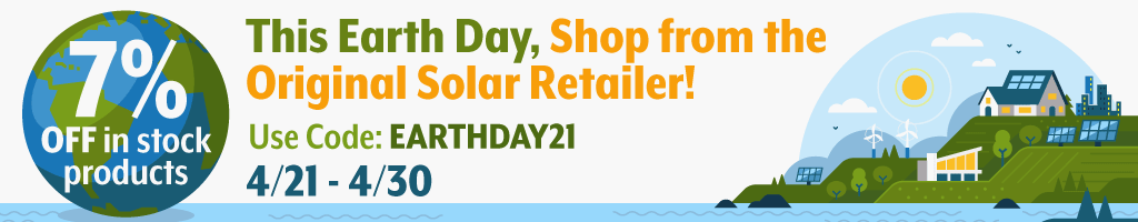 Real Goods' 7% Earth Day Sale