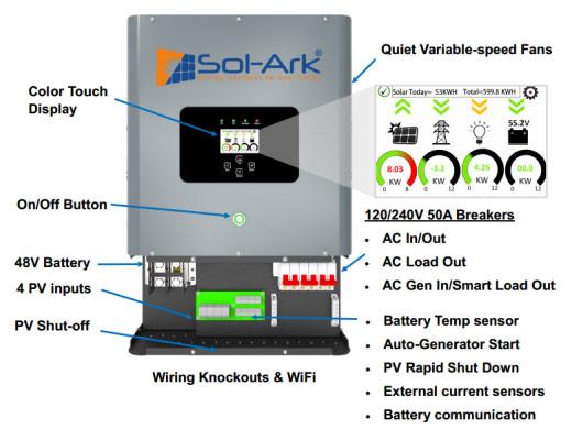 Sol-Ark Hybrid Inverter diagram