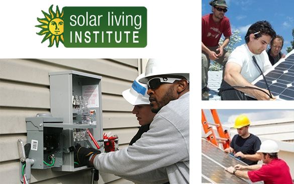 Solar Living Institute logo and courses