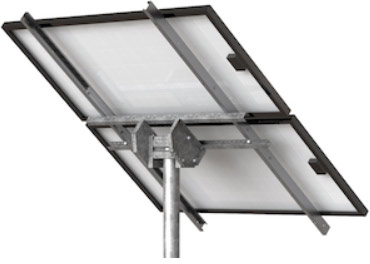 Top-of-pole solar panel mounting system