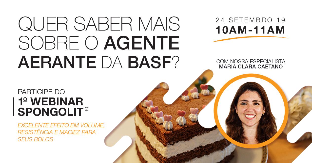 1º Webinar Spongolit®: excelente efeito em volume, resistência e maciez para seus bolos.