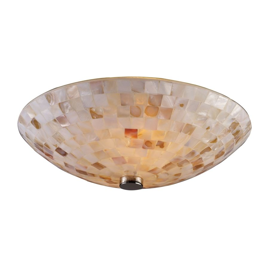 Ideal Capri - 2 Light Tropical Shell Semi Flush Mount Ceiling Lighting  RZ52