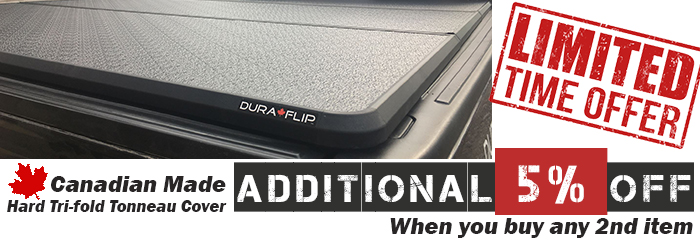 5% Off Canadian made tonneau cover