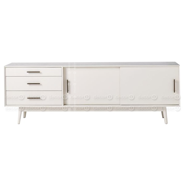 Ideal White TV Cabinet - Percy White TV Stand and Media Console - Decor8  QA67