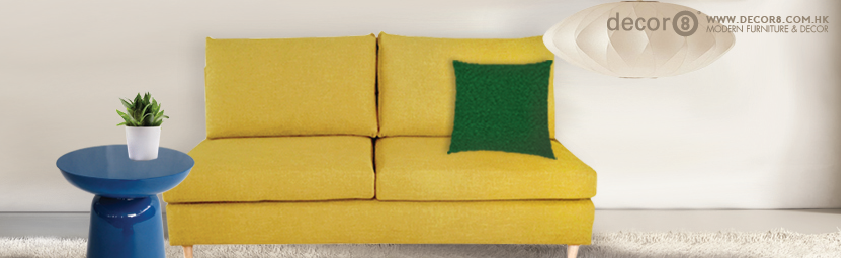 Decor8 Furniture Design - Jeremy Sofa in Yellow
