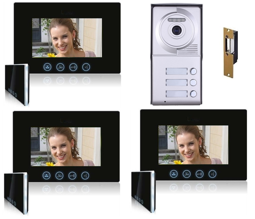 three button video intercom
