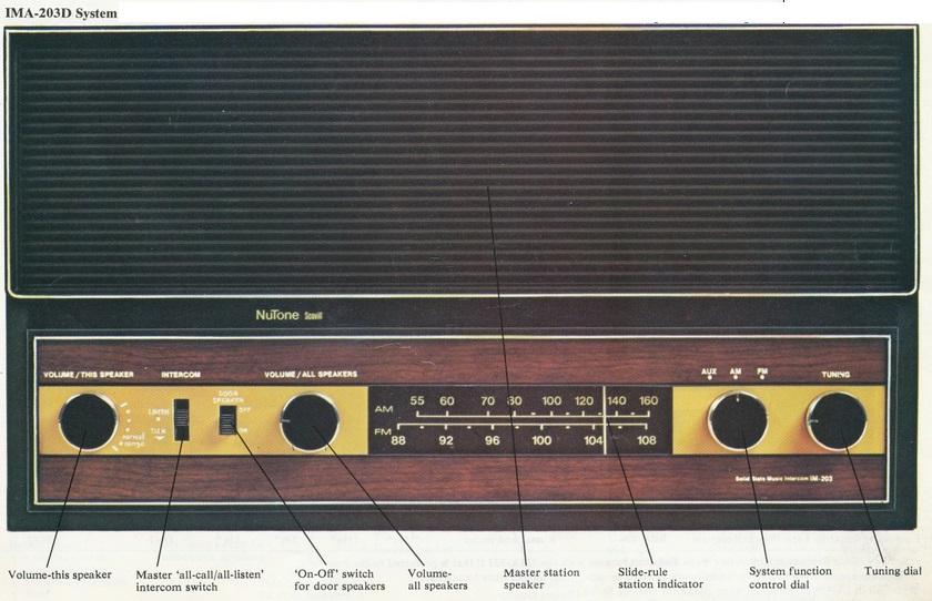 Replace NuTone 2011 / 2012 3 wire intercom