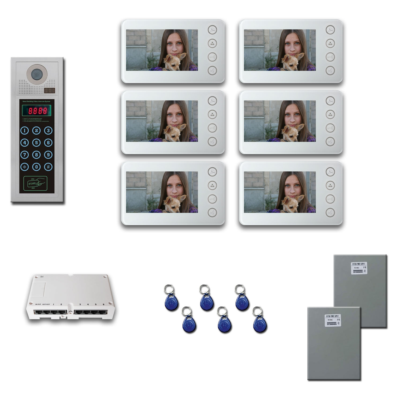 CAT5 Building Video Intercom Kit