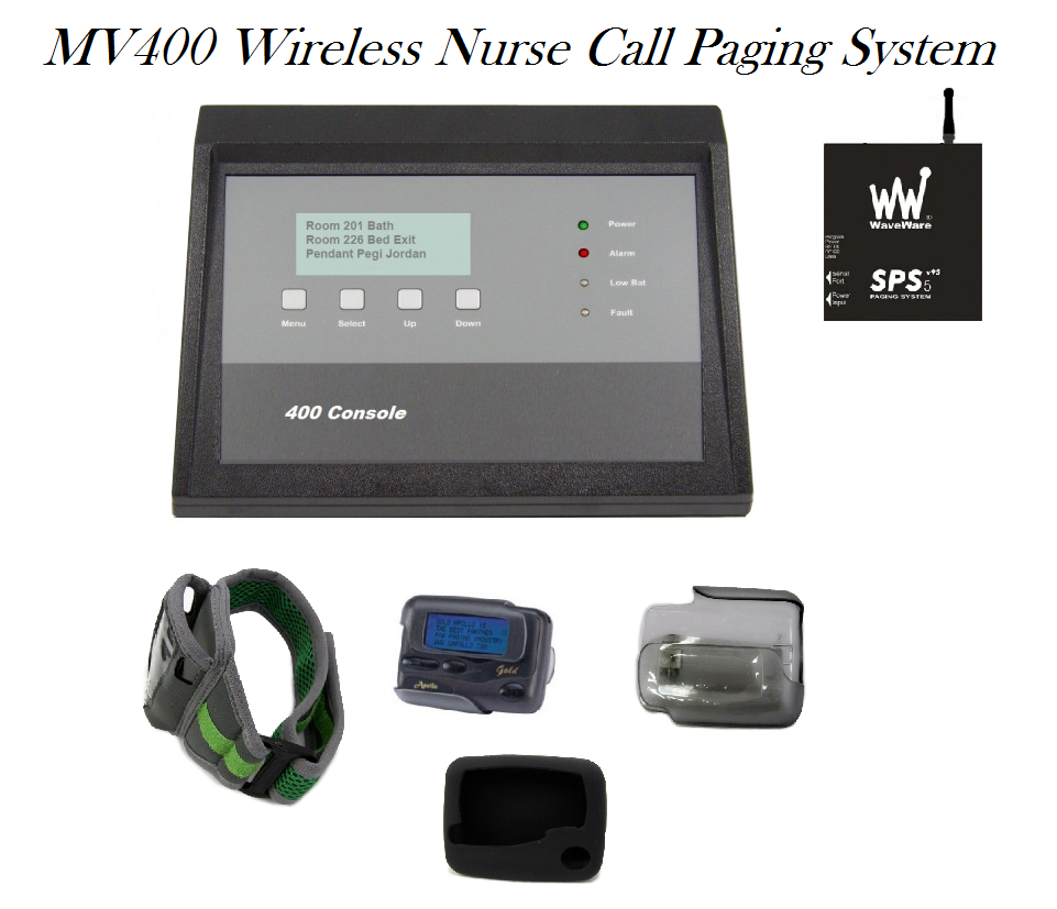 MV400 wireless nurse call paging pager system