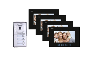 Four Tenant Video Intercom