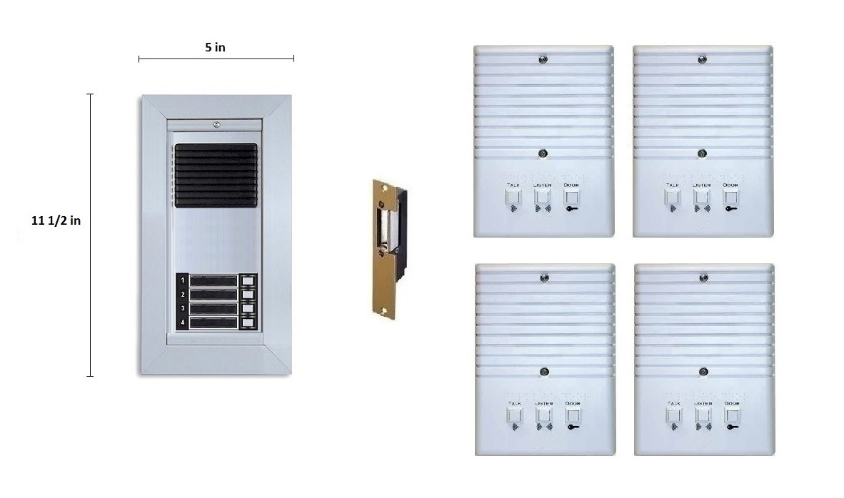 Voice Only Apartment Intercom System