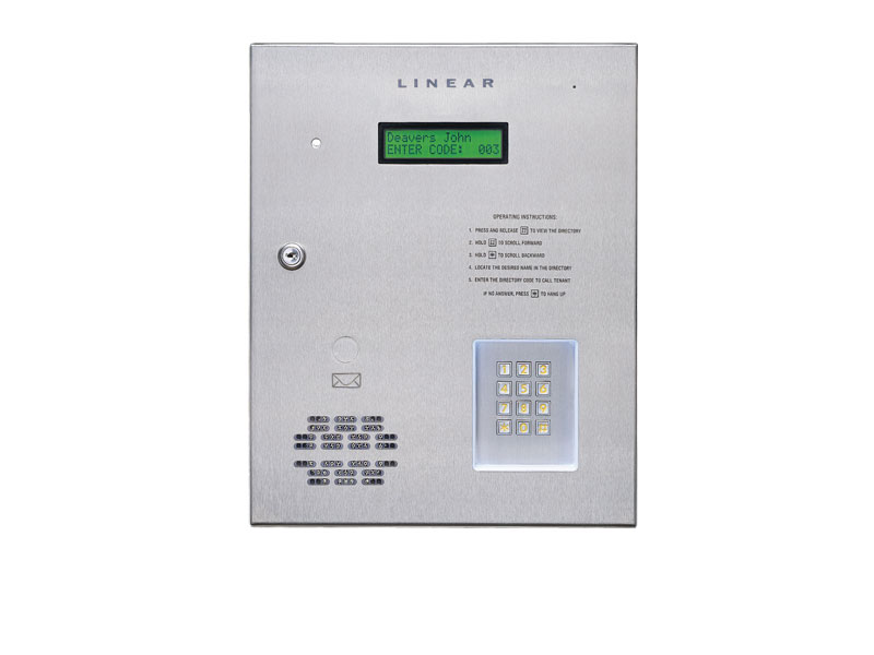 AE1000PLUS Telephone Entry System - Four Door