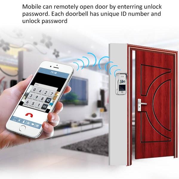 Wireless Doorbell Camera with Remote Unlock