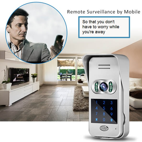 Wireless Doorbell Camera with Keypad