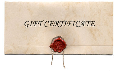 Gift Certificates & Wrap