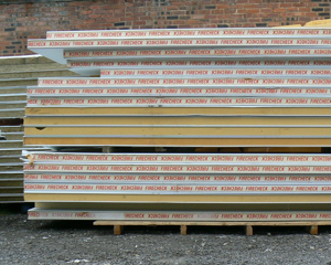 Reconditioned hoarding panels on palettes