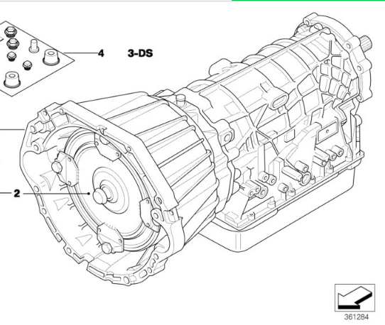 BMW OEM ZF 5HP24 USED Auto Transmission 24001423950 E53 X5