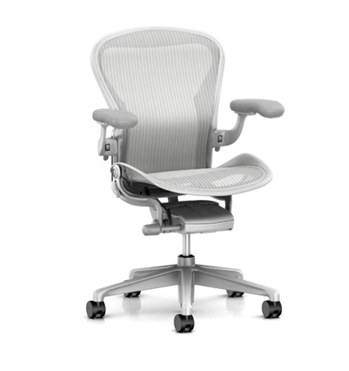 Image of Aeron Chair with Mineral Frame with Satin Aluminum Base and Chassis