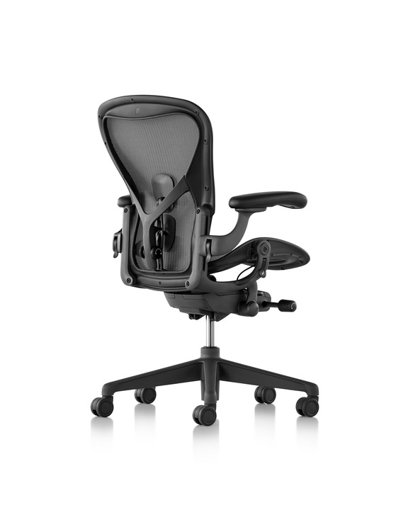 Image of Aeron chair carbon frame with Satin Carbon Base and Chassis