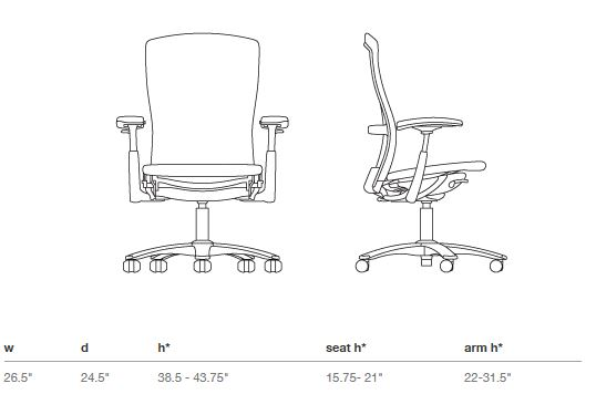 life chair by formway