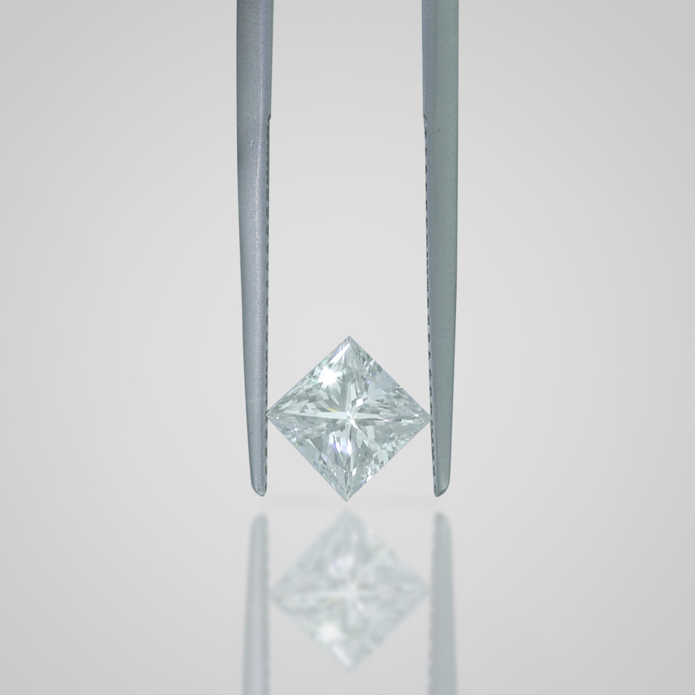 1 CARAT G COLOR VVS2 CLARITY PRINCESS CUT NATURAL LOOSE DIAMOND