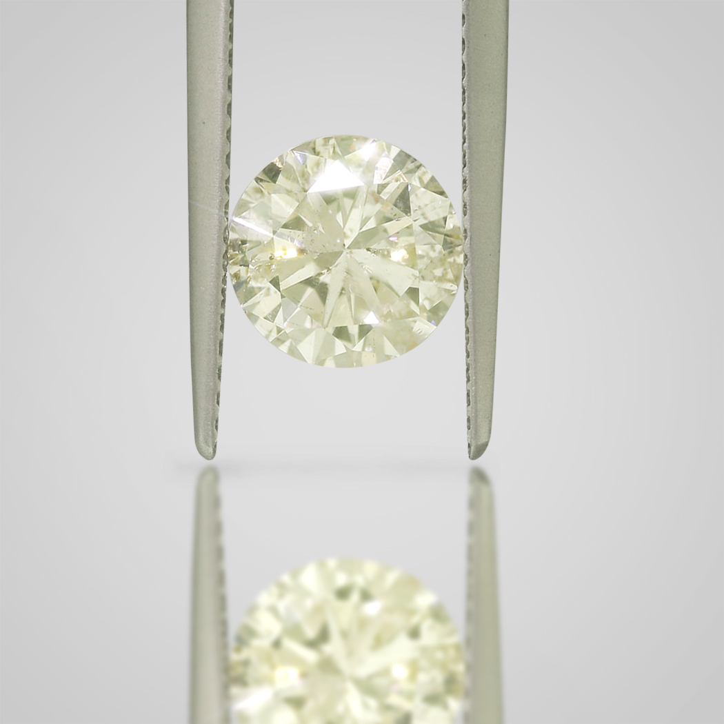 2 CARAT FANCY LIGHT YELLOW COLOR SI2 CLARITY ROUND LOOSE DIAMOND