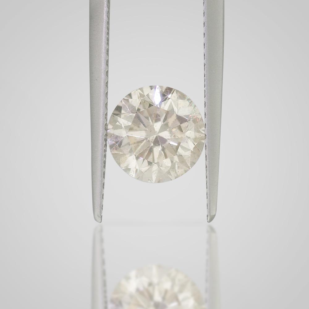 2 CT ROUND BRILLIANT LOOSE DIAMOND - FANCY LIGHT CHAMPAGNE SI1