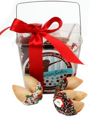 Christmas Fortune Cookies - Take Out Pail of 6