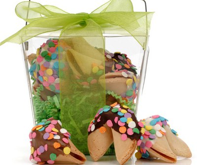 Confetti Fortune Cookies - Take Out Pail of 6