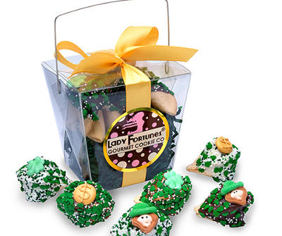 Luck 'o the Irish Fortune Cookies - Take Out Pail of 6