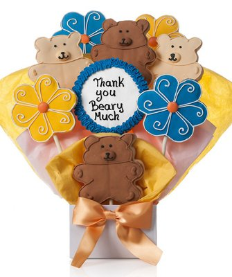 Thank You Beary Much Cookie Bouquet