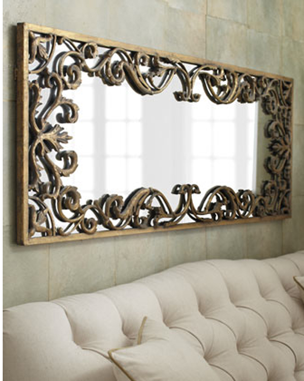 "Ornate Decorative Gold Scroll Large Wall Mirror XL 68"" 759526404280 ..."