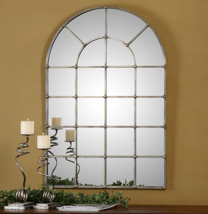 large silver wall mirror wall mounted store categories window pane arch oxidized silver wall mirror large 44 759526404525