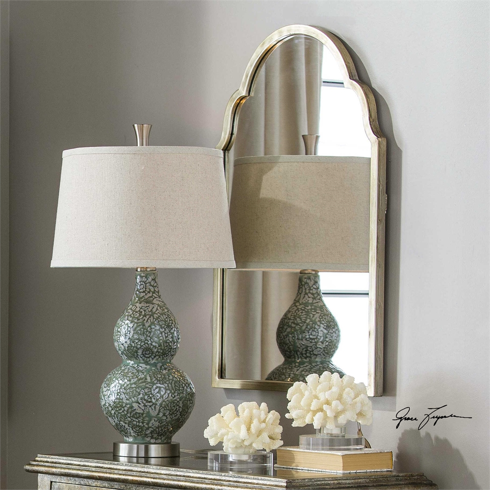 Details About Arched Silver Champagne Metal Arch Wall Mirror 30u201d Bathroom  Vanity Stella Bianca