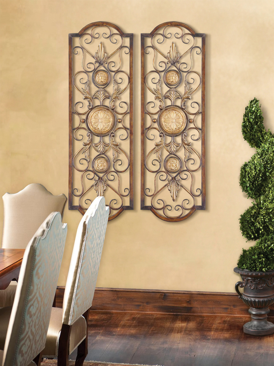 Tuscano Hand Forged & Hand Embossed Metal Wall Grille - Set of 2   eBay