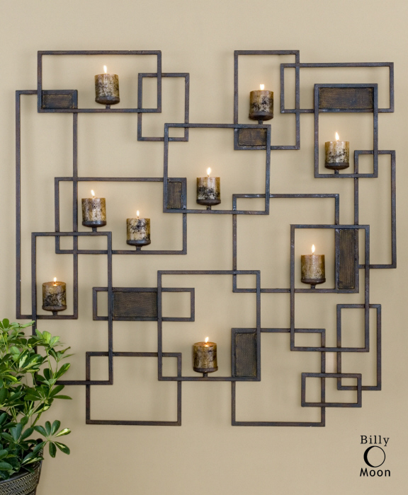 Fantastic Contemporary Candle Wall Sconce Sculpture Large Art 759526409339  FF73