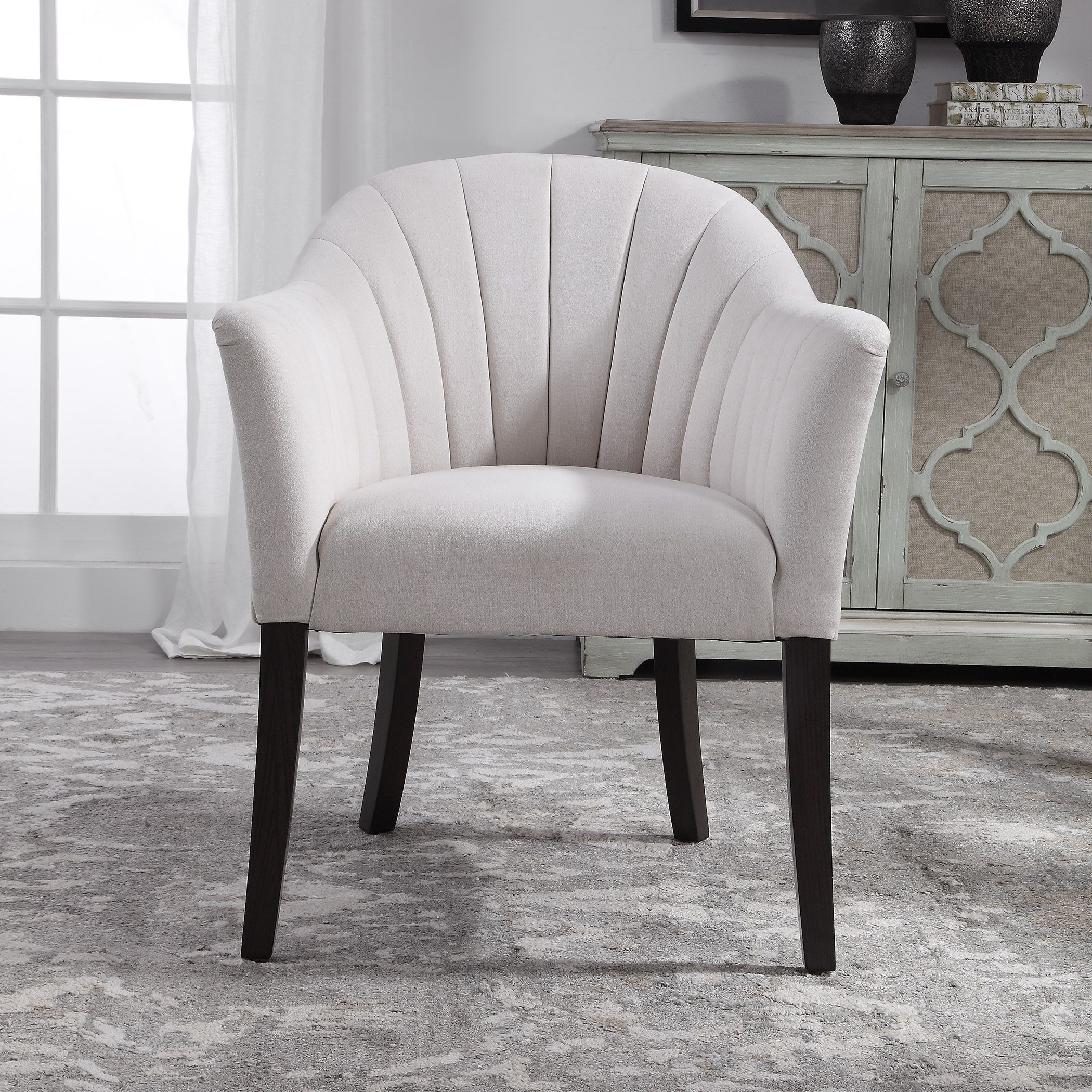 Miraculous Details About Contemporary Ivory Arm Chair Bedroom Living Room Armchair Accent Seating Coastal Ncnpc Chair Design For Home Ncnpcorg