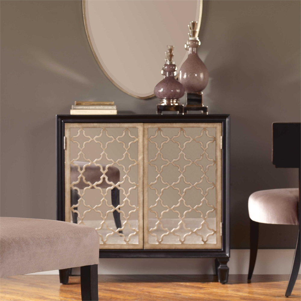 Phenomenal Details About Gloss Black Mirrored Storage Console Cabinet Hollywood Regency Home Interior And Landscaping Palasignezvosmurscom