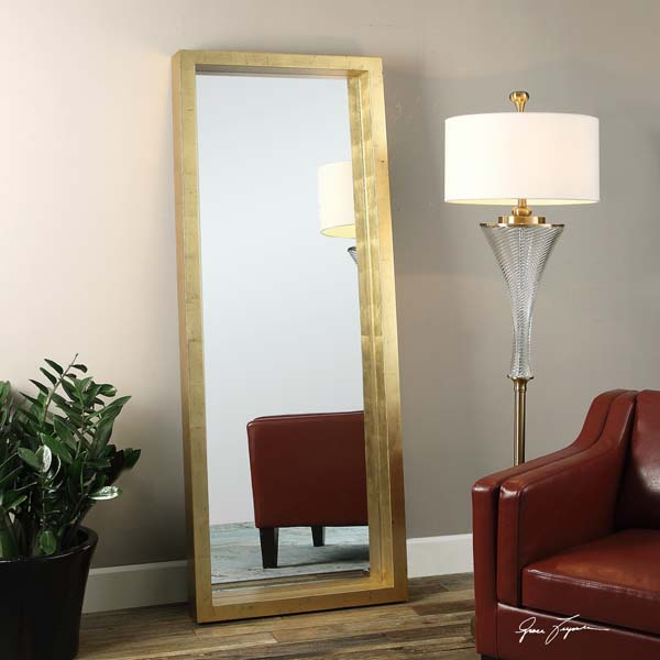 Extra Large Gold Wall Floor Dressing Leaner Mirror Xl 75 Quot 759526406468 Ebay