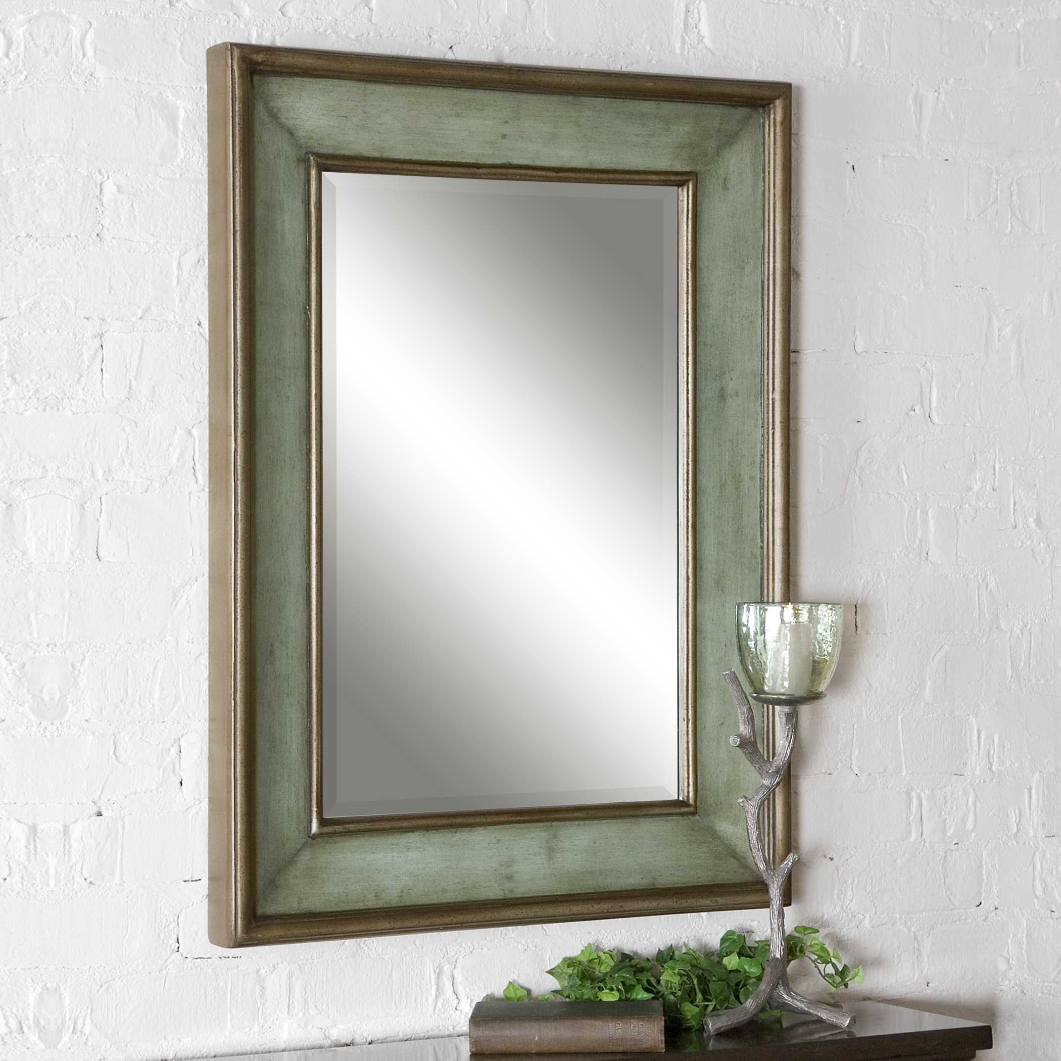 Details About Beach House Rubbed Blue Green Beveled Wall Mirror Large 37 Coastal Decor