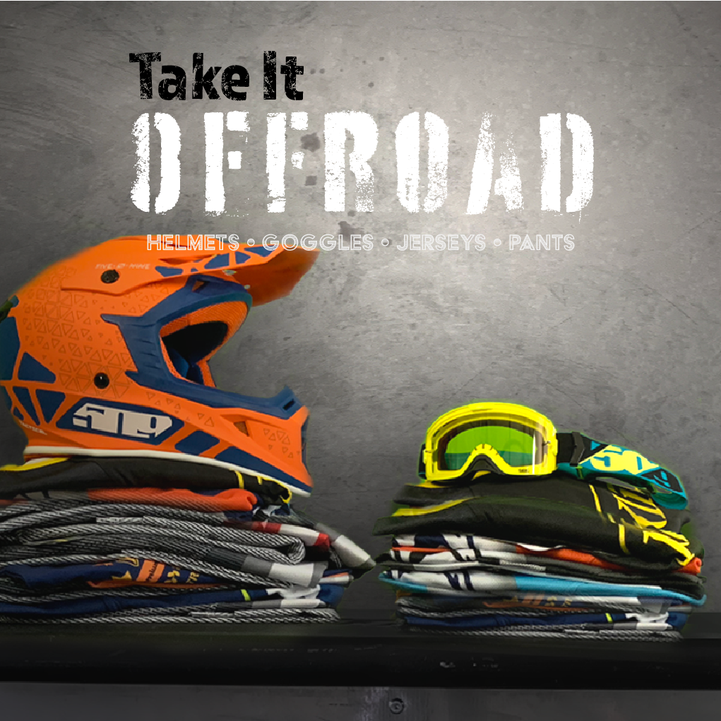 Take it Offroad! - Helmets, Goggles, Jerseys, Pants